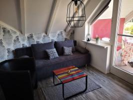 Appartement: Essbereich mit Küchenzeile